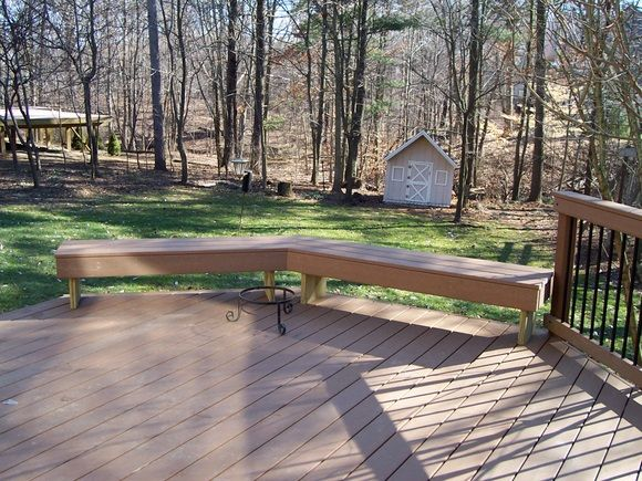 On low to grade decks benches can be used instead of ...