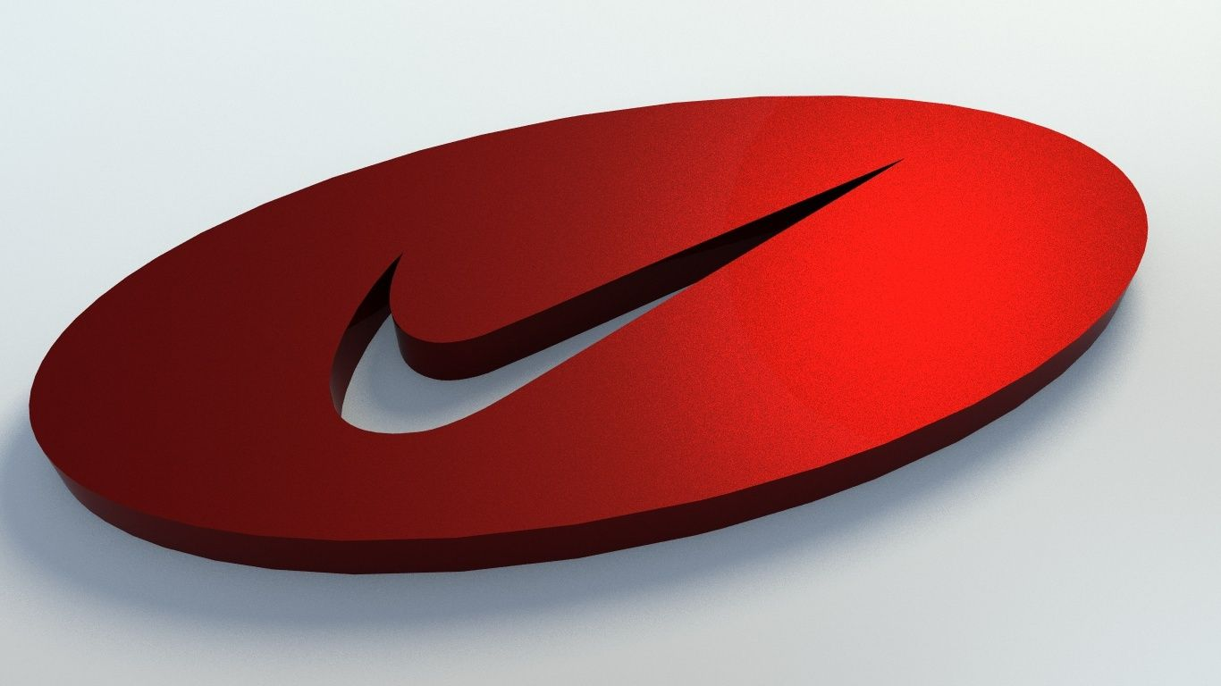 micrófono limpiar Desgracia  Nike Logo 3D Model | Nike logo, Nike, Logos