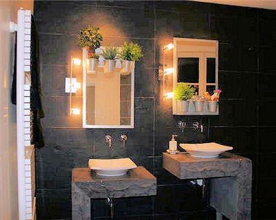 salle de bain pierre design home Pinterest - salle de bain ardoise