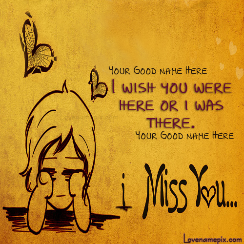 Write Couple Names On Lovely Cute Miss U Love Pictures And