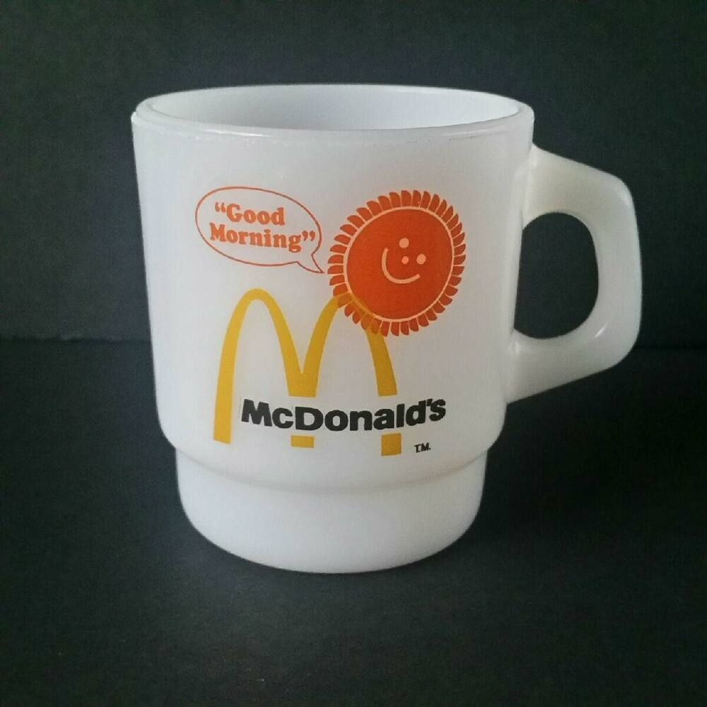 Details about mcdonalds fire king coffee mug good morning