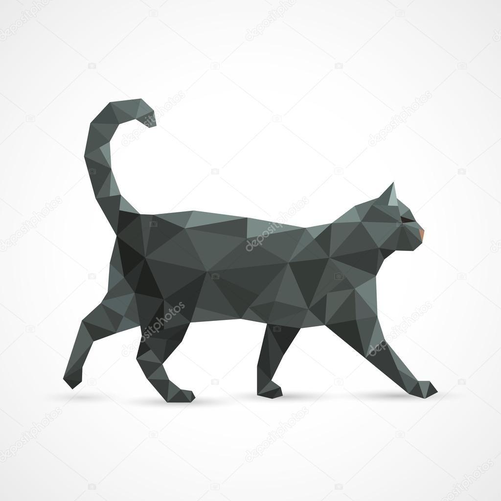 Скачать - Черная кошка из геометрических элементов ...