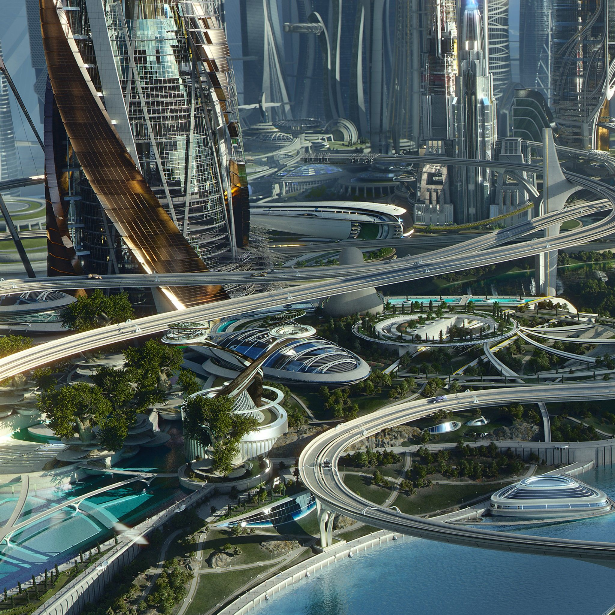 Future Utopia City Futuristic City City Wallpaper Concept Art World