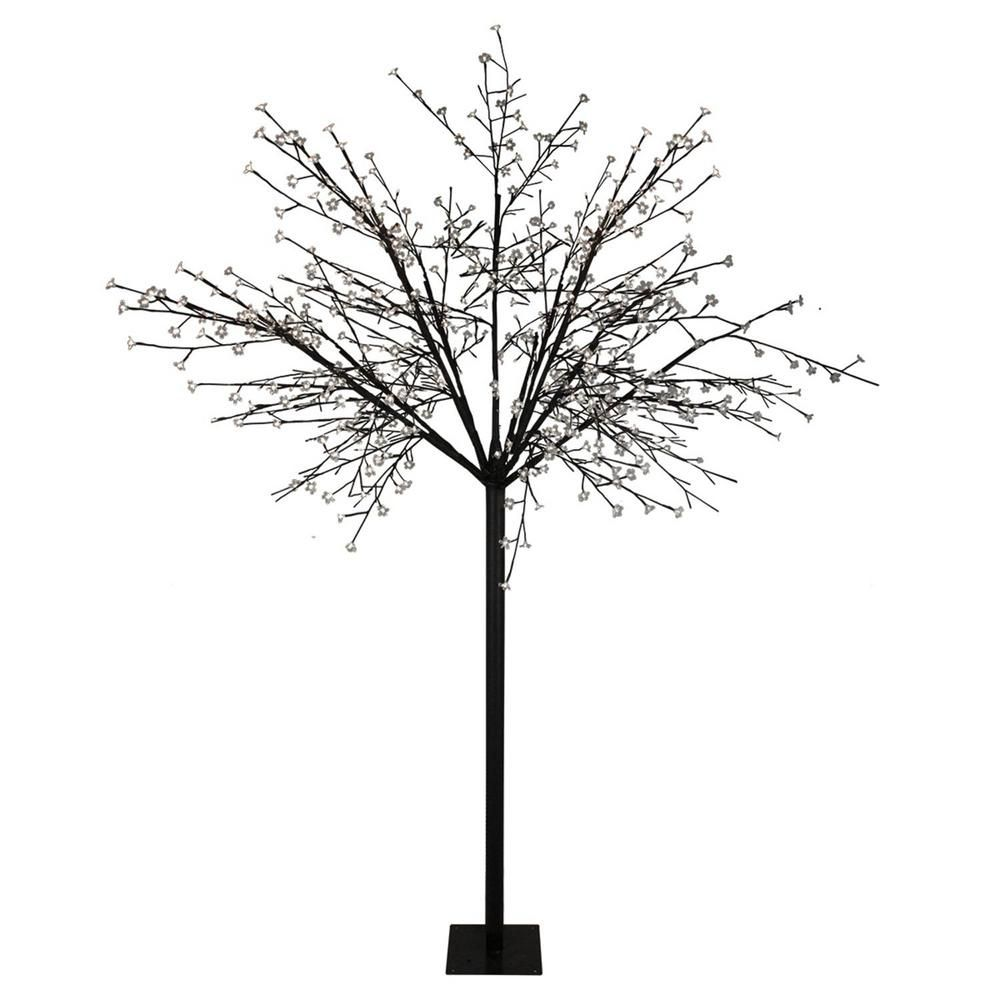 Northlight 8 Ft Multi Function Led Lighted Cherry Blossom Flower Tree And Pure White Lights 31457977 The Home Depot Flowering Trees Cherry Blossom Flowers Blossom Trees