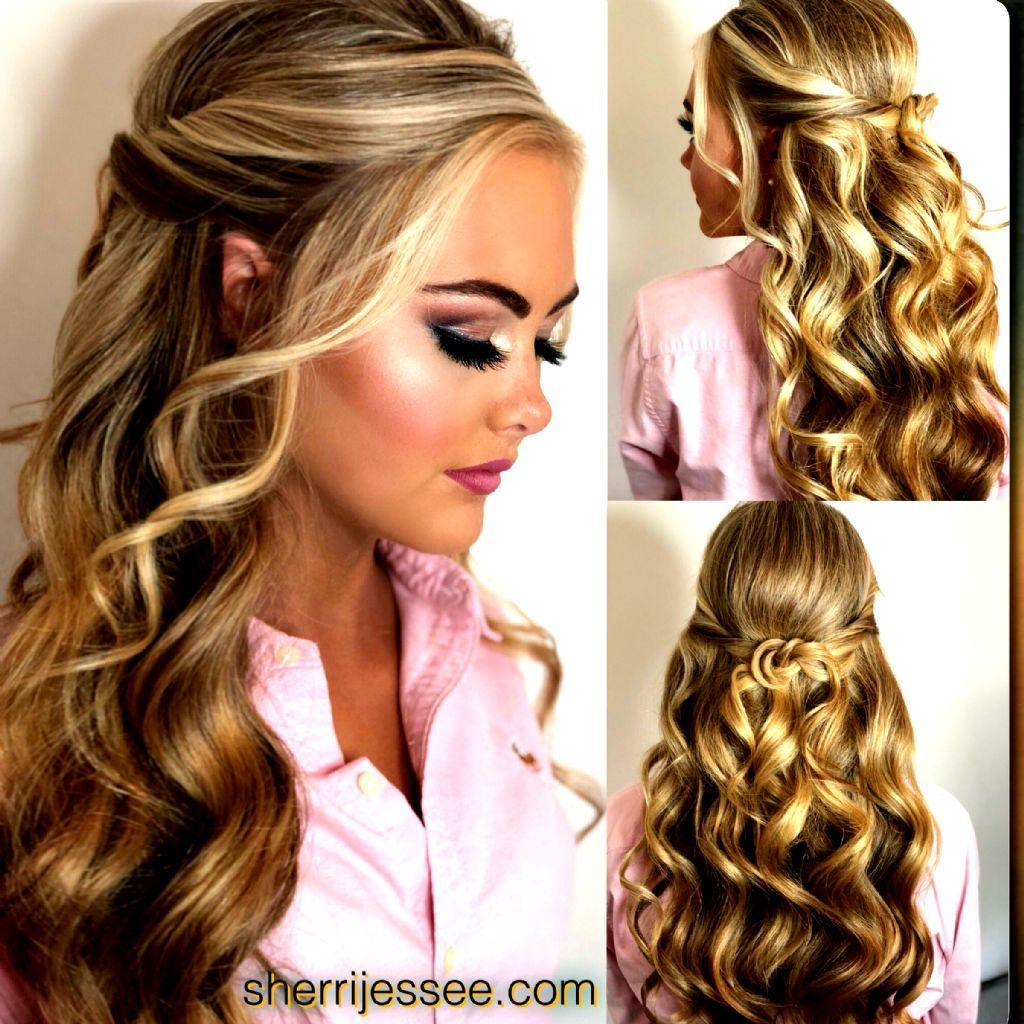 Hairstyles Prom Hairstyles For Long Hair Half Up Half Down Most Hair Hairstyles Long Prom In 2020 Prom Hair Down Hair Styles Pageant Hair