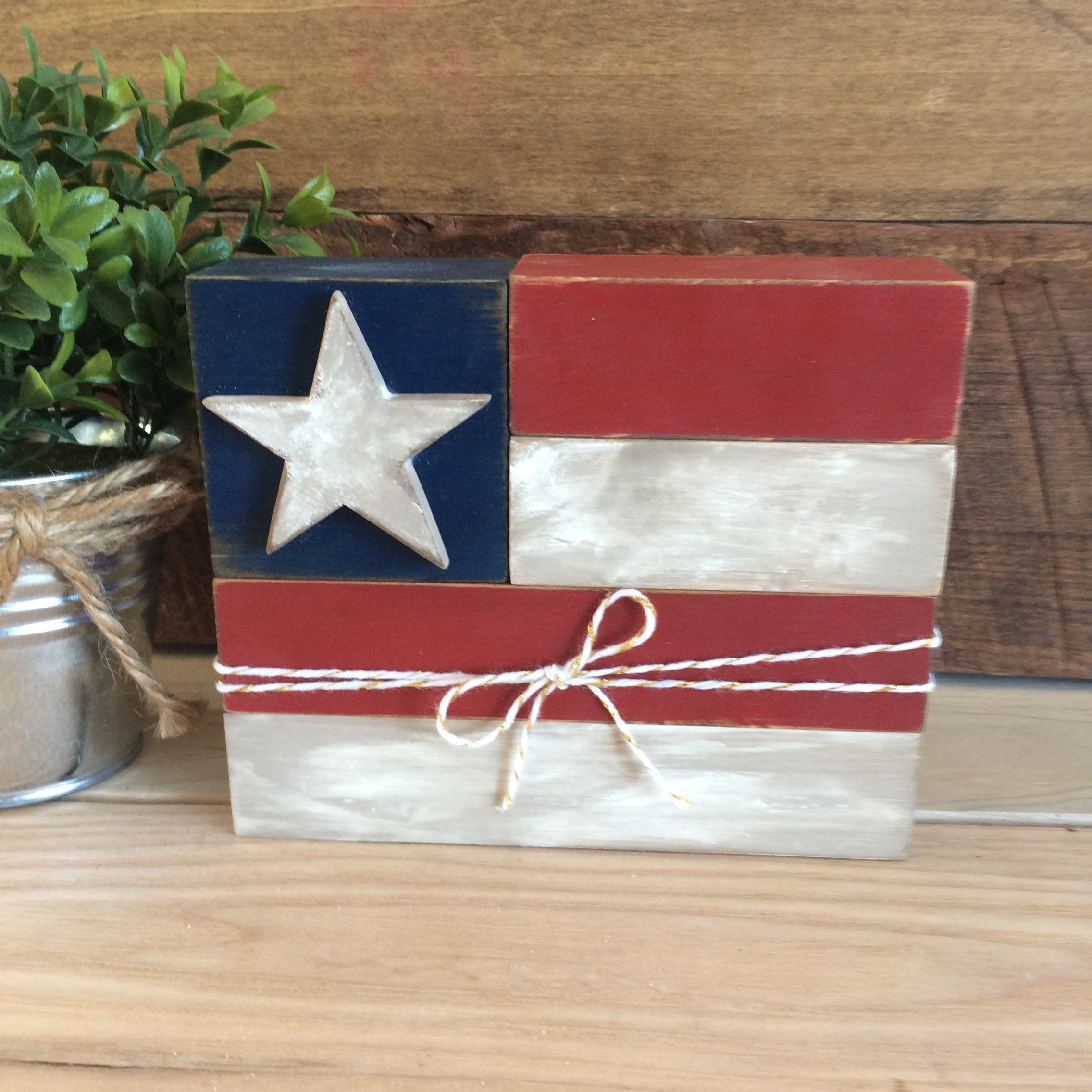 Americana Flag Americana Decor 4th Of July Decoration Memorial Day Decoration Home Decor By Littl Memorial Day Decorations Fourth Of July Decor July Crafts