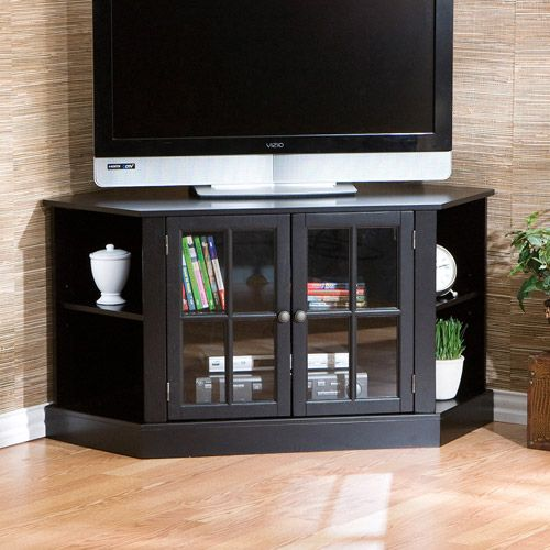 Corner Tv Stands For Flat Screen Tvs | Davenport Corner Media Stand For TVs  Up To