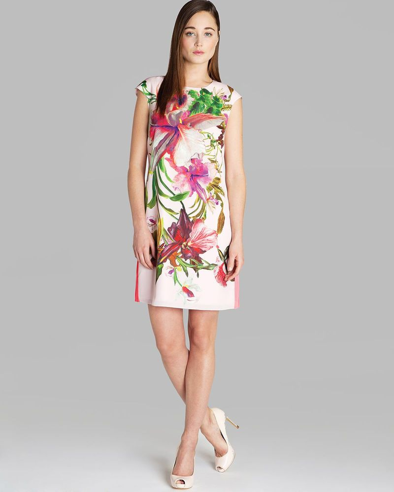 aa5a1c8f99992 Ramonda Ted Baker Dress Size 2 Floral - Pink
