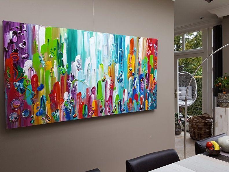 Modern Interieur Schilderij : Groot modern luik schilderij delen ook apart verkrijgbaar te