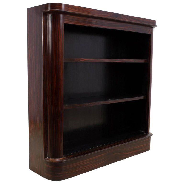 Art Deco Bookcase In Macassar Ebony Circa 1930 From A Unique Collection Of Antique And Modern Bookcases At Https With Images Art Deco Bookcase Vintage Bookcase Bookcase