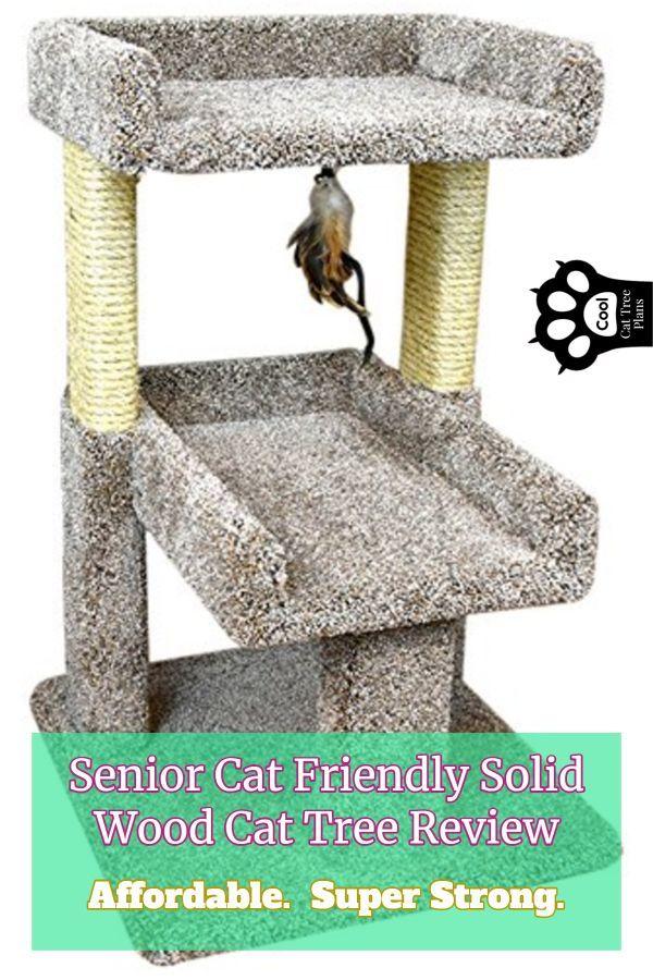 Senior Cat Friendly Solid Wood Cat Tree Review Wood cat
