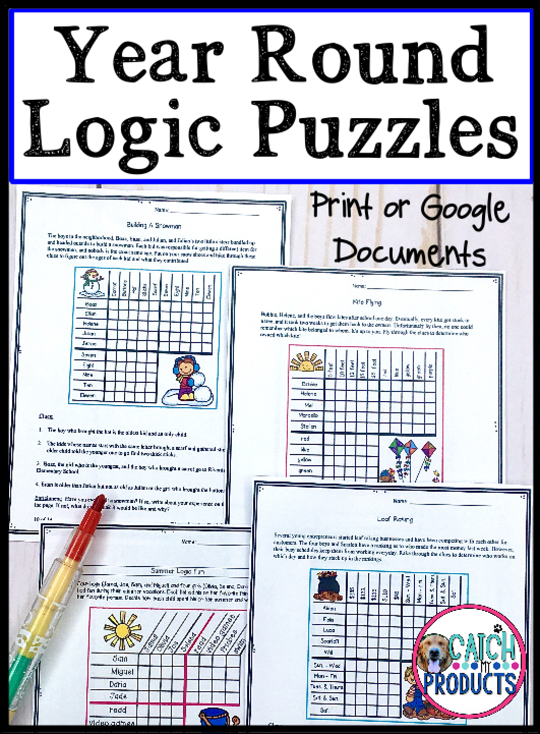 Digital Logic Puzzles Worksheets Or Distance Learning