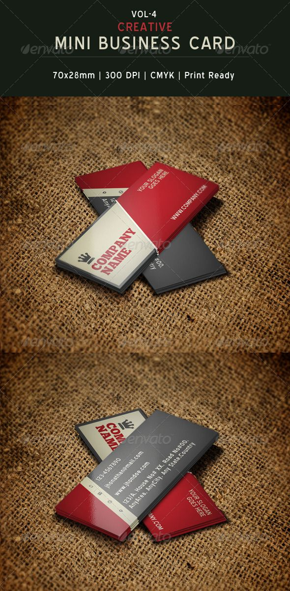 Creative Mini Business Card Template 04 | Card templates, Business ...