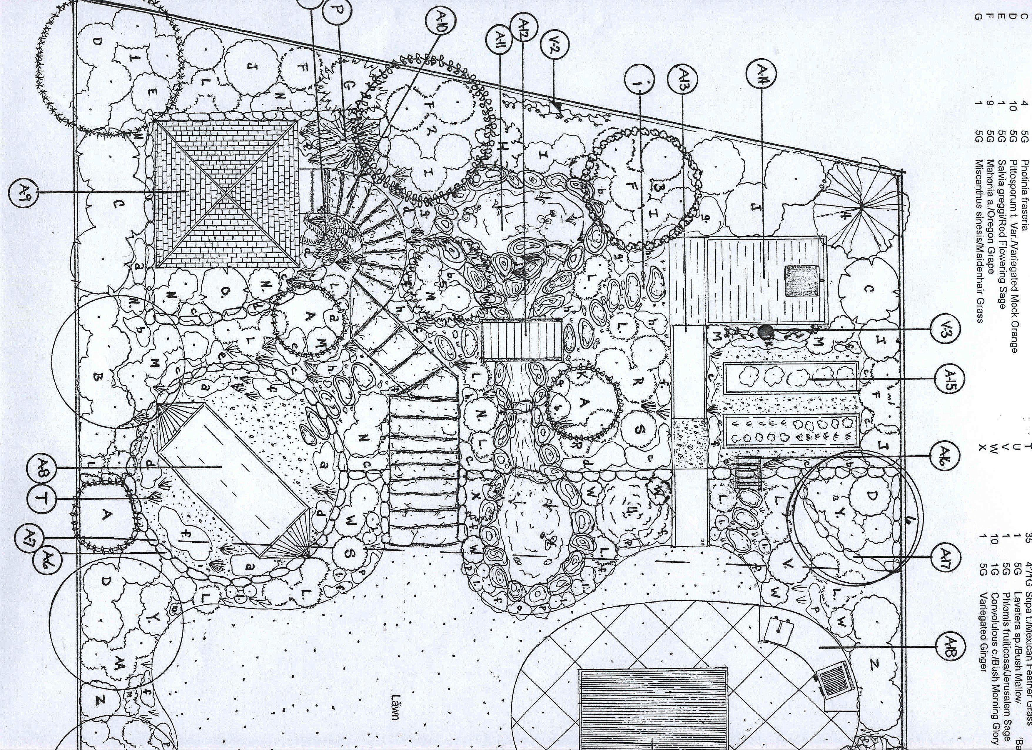 landscape architecture plan drawing