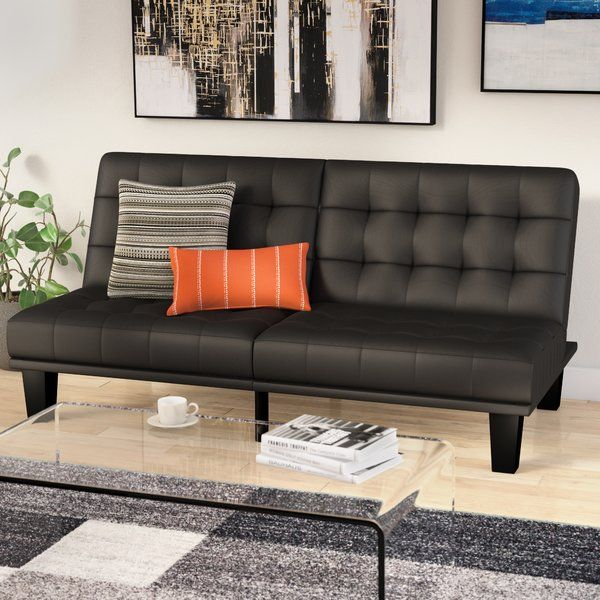 Haysi Futon Lounger Convertible Sofa Guest Room