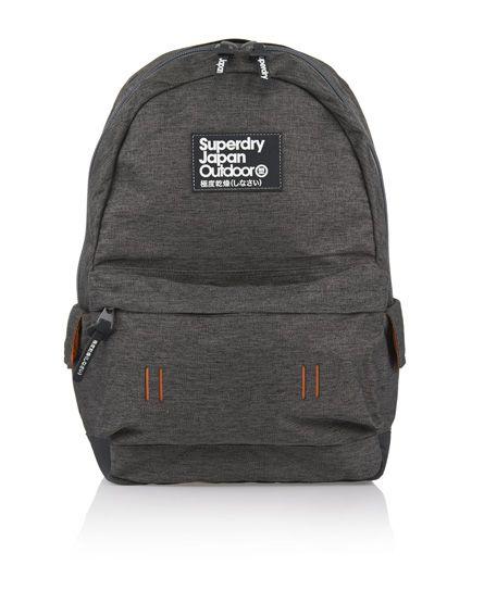 Mens - Montana Marled Backpack in Dark Grey | Superdry