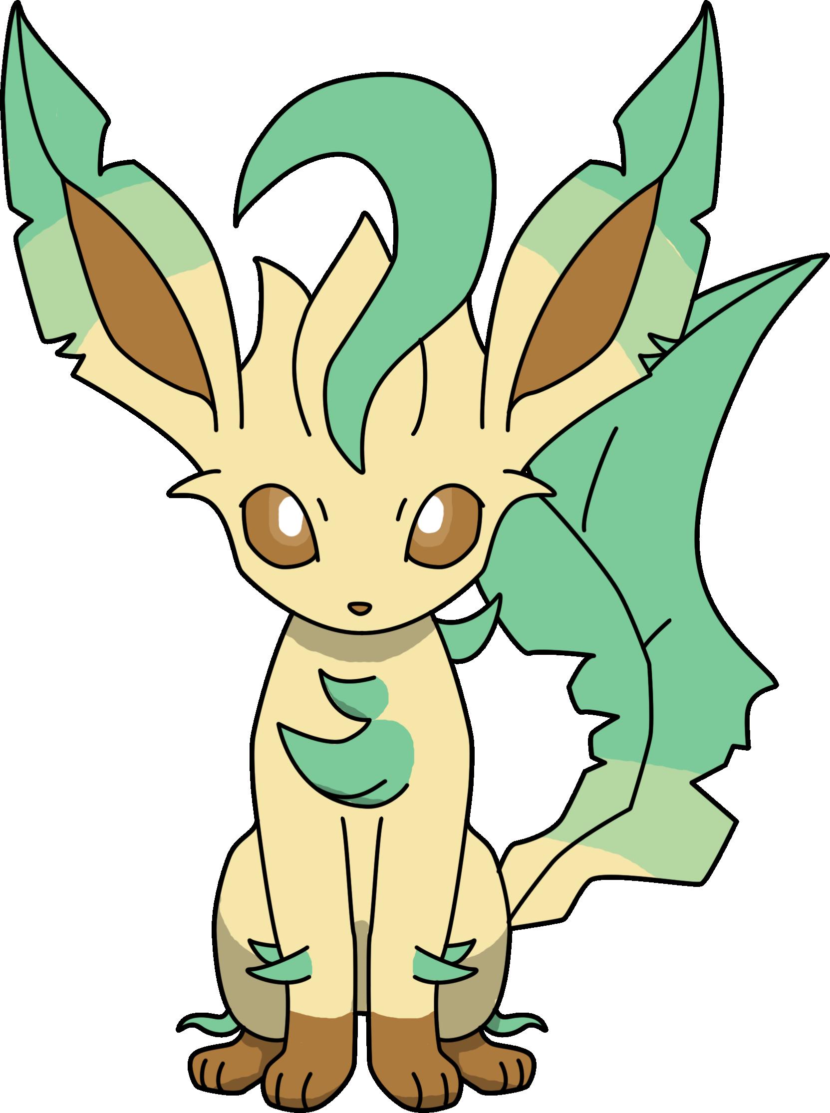 Pokemon Kleurplaten Glaceon.Leafeon Pokemon Anime Pocketmonsters Pokemon