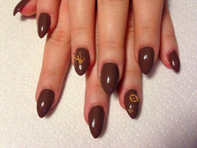Lv nails #stelletos#lv | Nail art | Pinterest