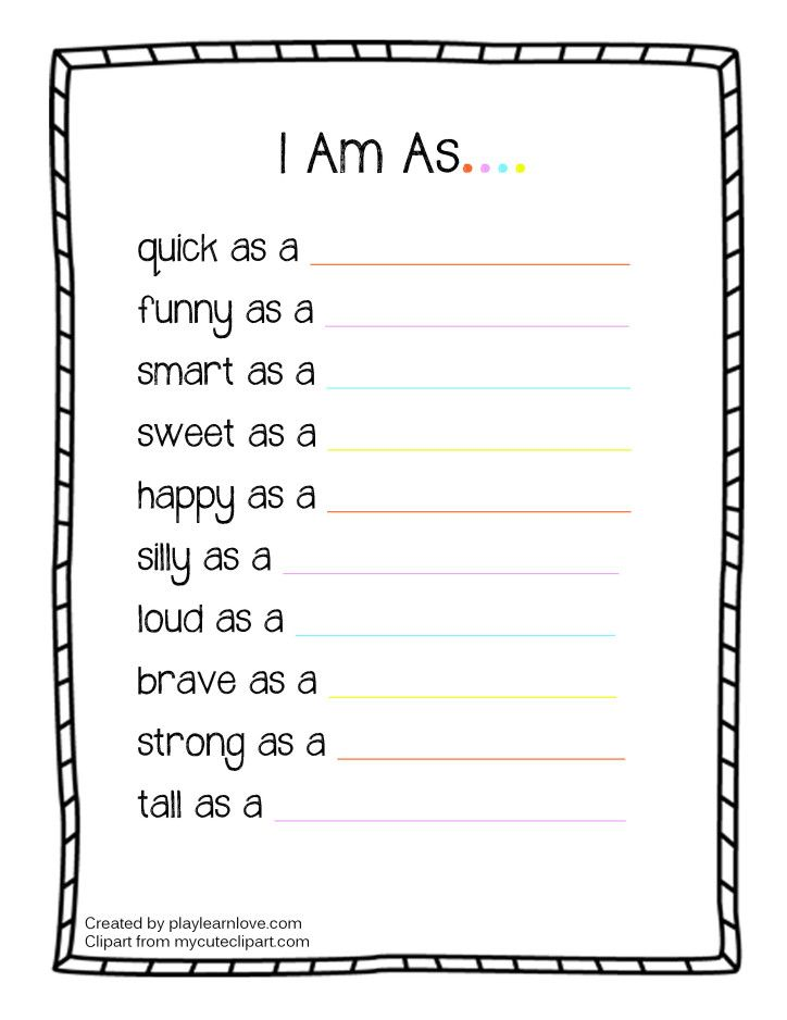 I Am As Worksheet From Play Learn Love With Images All About