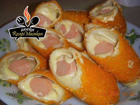 Resepi Roti Gulung Sosej Berkeju Cemilan Makanan Roti