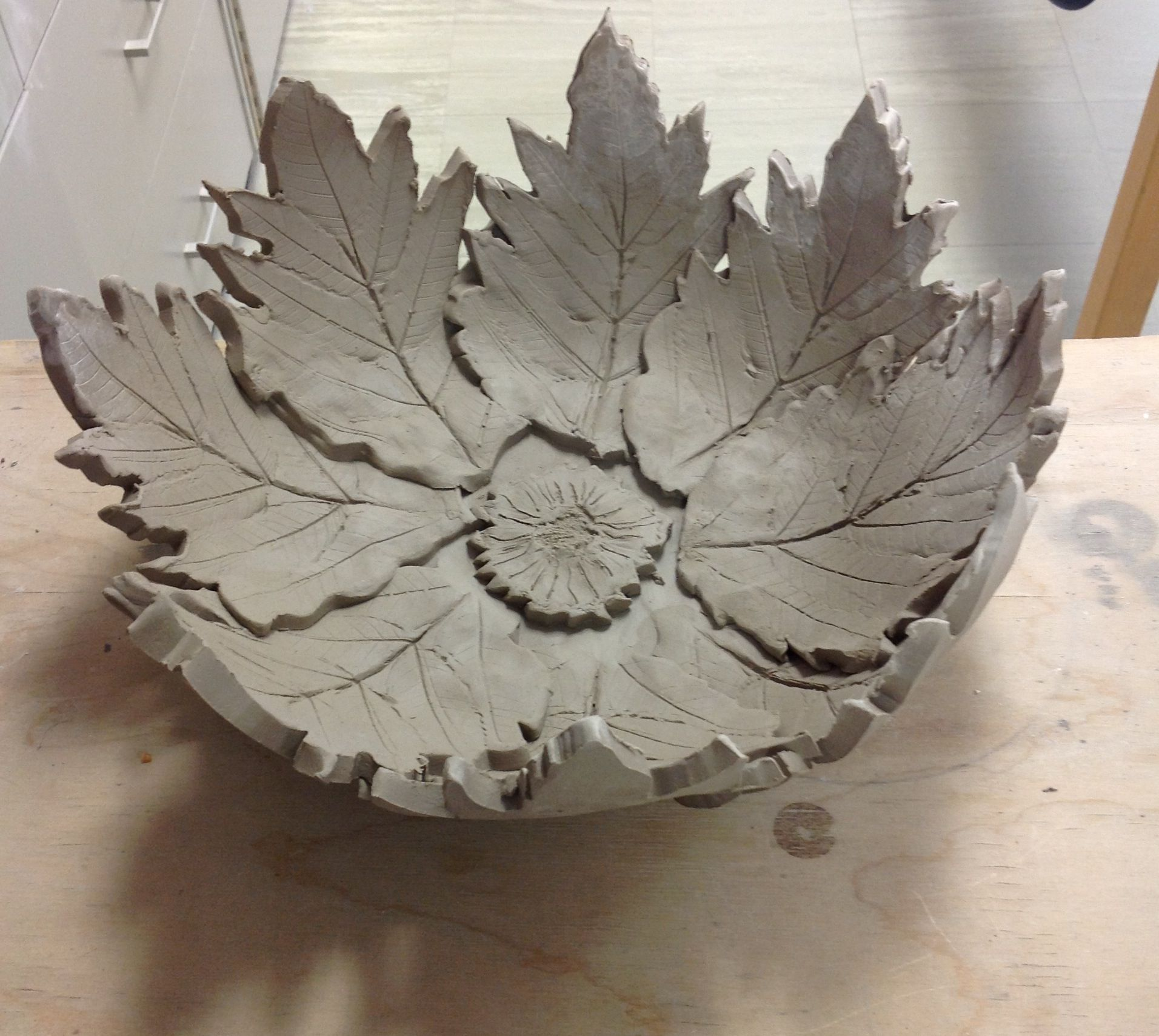Slab constructed large bowl, still drying. | High school ...