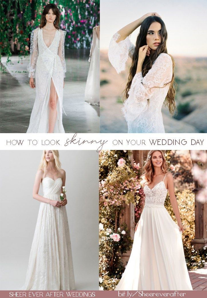 These Wedding Dress Hacks Will Make You Look Skinny On Your Wedding Day Without The Gym Wedding Dresses How To Look Skinnier Bridal Beauty