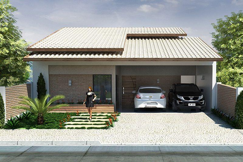 Casa para terreno de 10 por 20 metros projetos de casas for Modelos de frente para casas pequenas