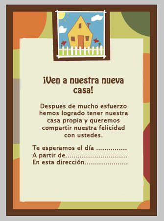 Invitaciones Para Inauguración De Casa Buscar Con Google