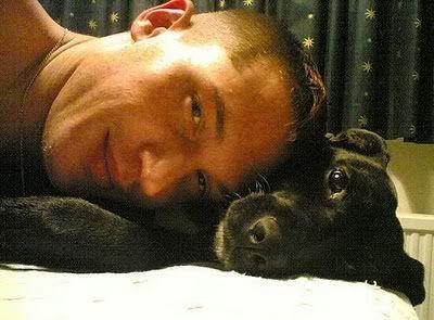 Tom Hardy and a puppy. Awwww