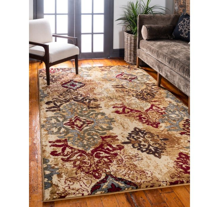 Multicolor 10 X 14 Coffee Shop Rug Esalerugs Rug Shopping Area Rugs Beige Living Rooms