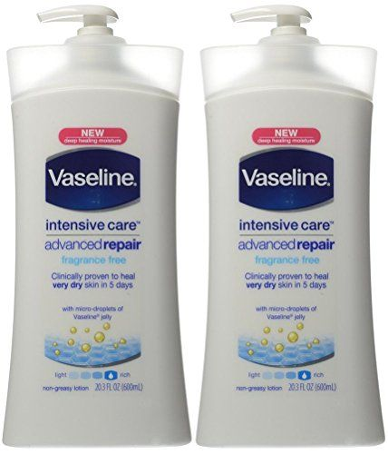 Vaseline Intensive Care Advanced Repair Lotion Fragrance Free 203ounce Pump Pack Of 2 You Can Find Out Fragrance Free Products Moisturizing Lotions Fragrance