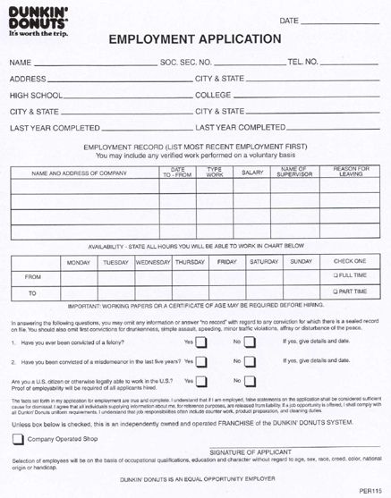 Pin On Job Application Forms