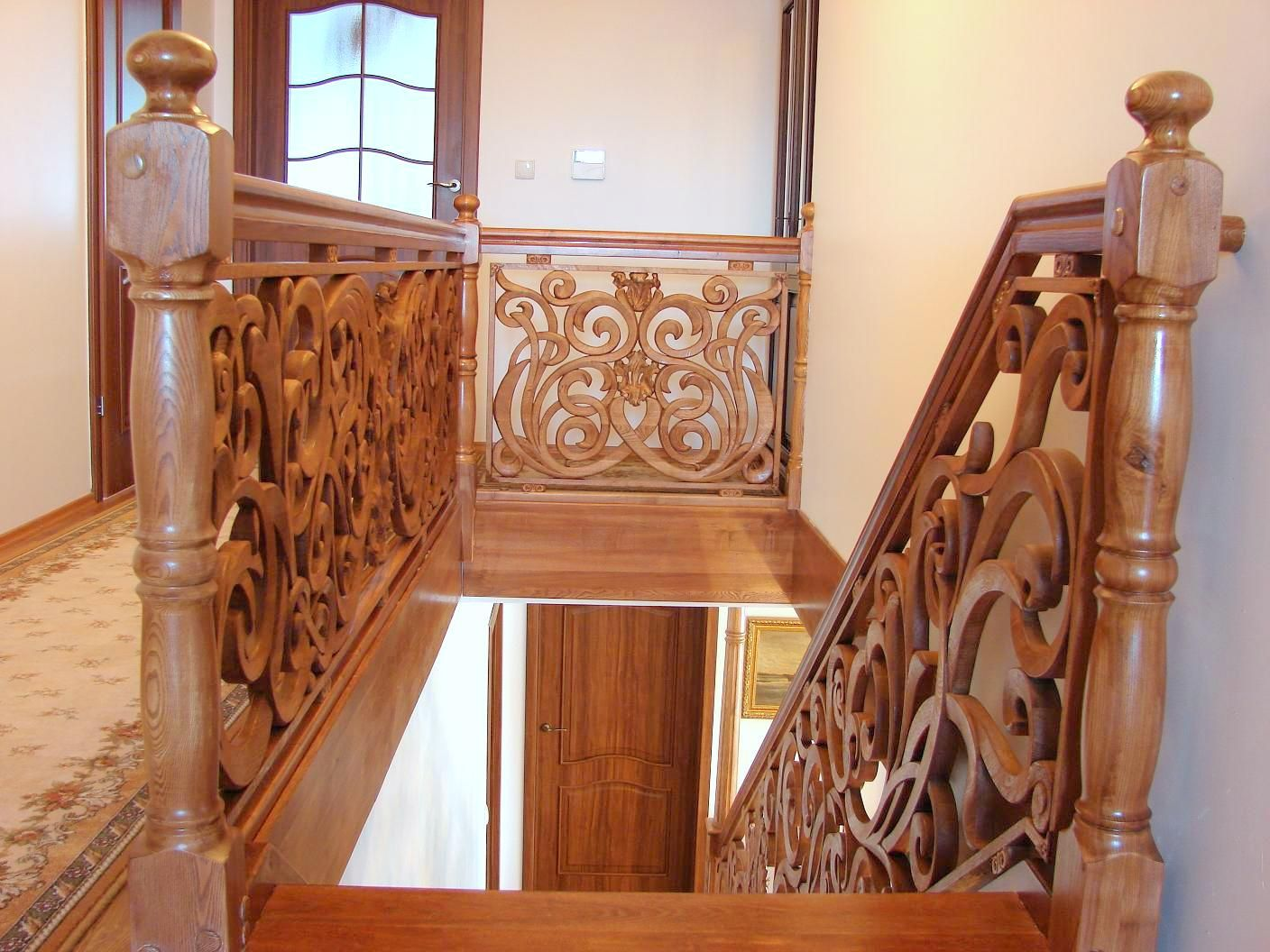 Best Oak Carved Stairs Balustrade By My Friends Just Inner 640 x 480