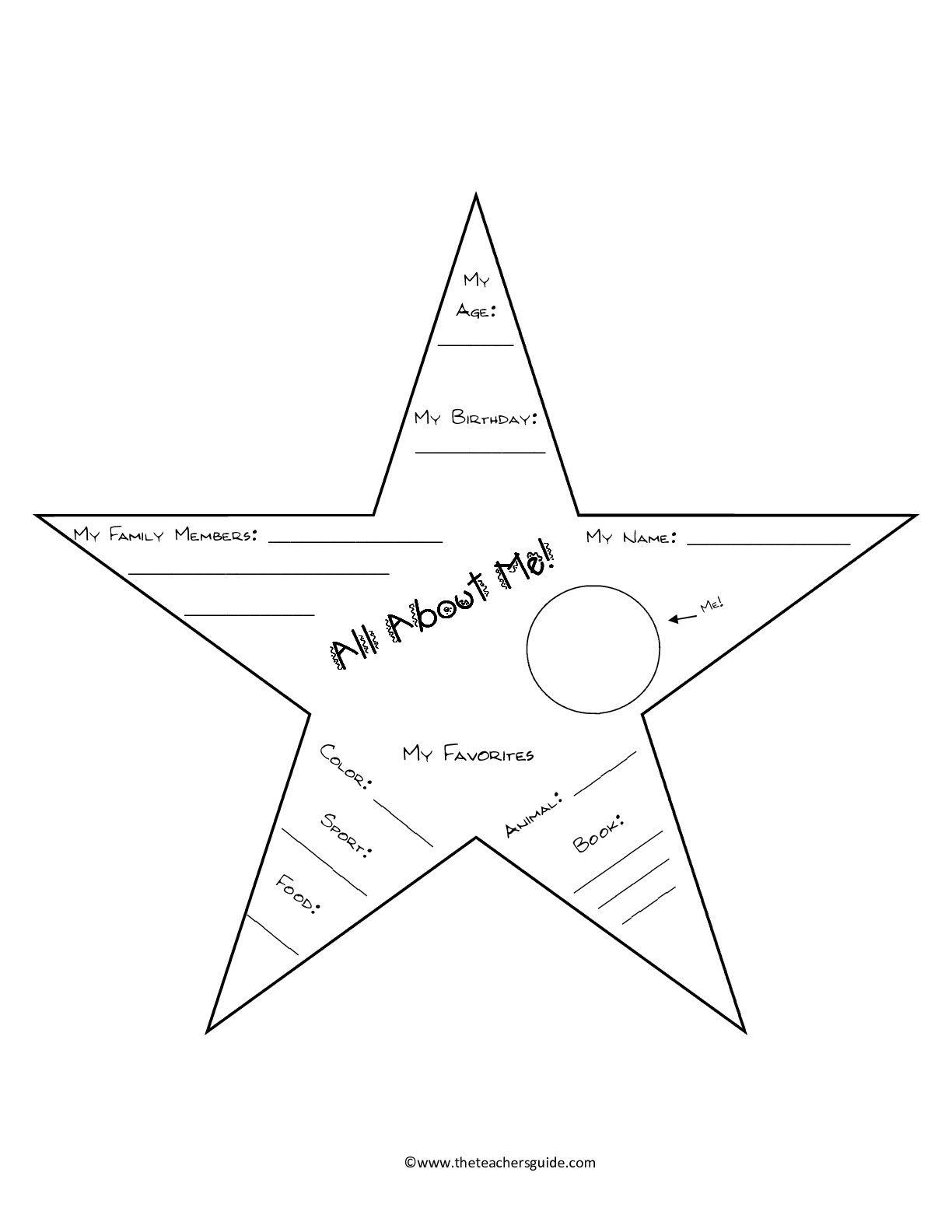 Star Template Worksheet