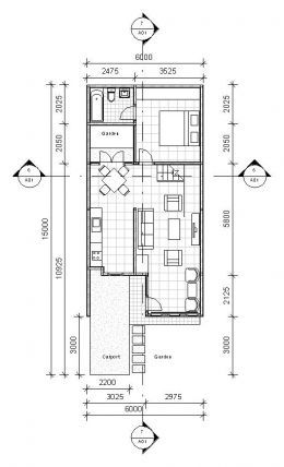 1 Bdrm Narrow House Designs Town House Floor Plan Narrow Lot House Plans