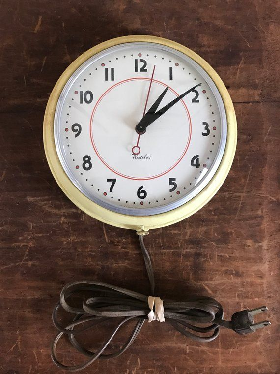 Westclox 1940s Wall Clock Working Condition Plug In Office