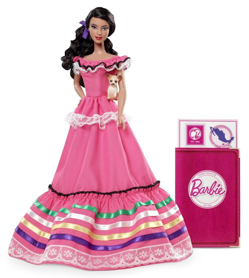 Barbie Collection - W3374 - Poupées du Monde - Mexique: Mattel: Amazon.fr: Jeux et Jouets