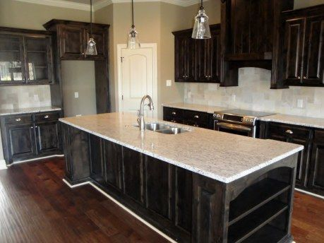 Dark Cabinets Open Concept Kitchen Love It Open Concept