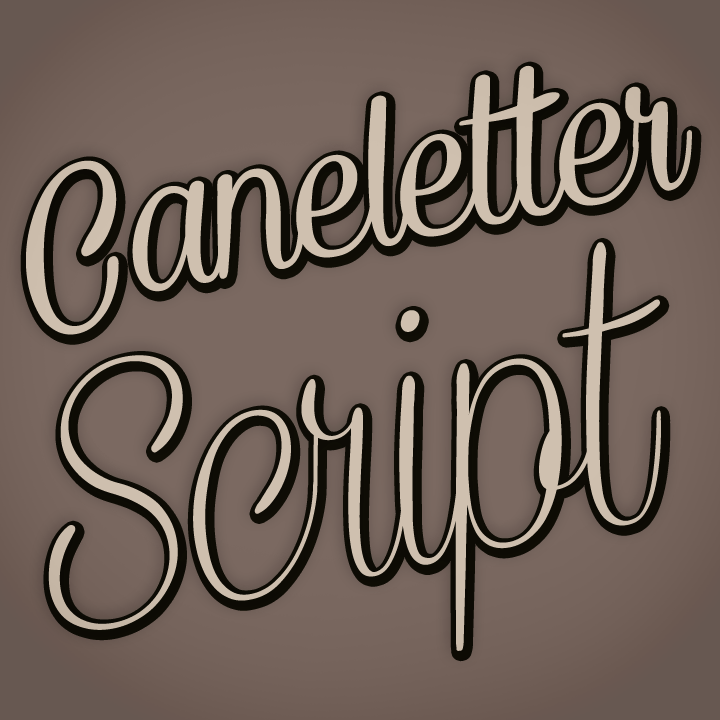Free for personal use - 2 font files:  CaneletterScript
