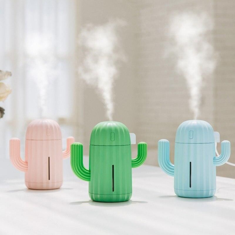 Cactus Humidifier Essential Oil Diffuser (Multiple Colors)