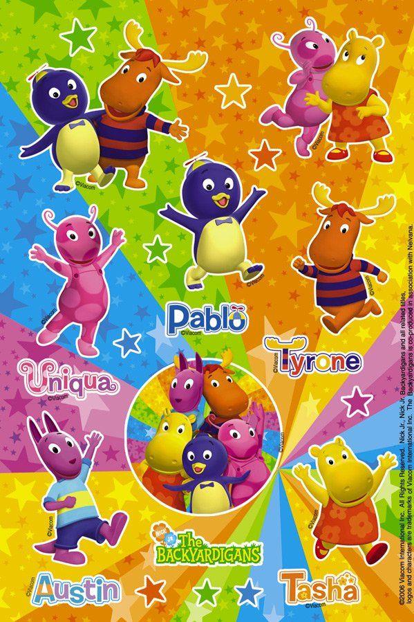 Backyardigans Sticker Sheets/$1.99 | Birthday Party Themes ...
