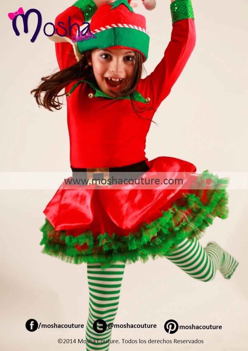 Vestido disfraz de duende para ni a kids christmas - Disfraz navideno nina ...