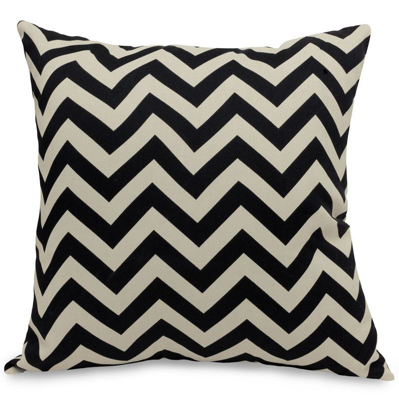 Majestic Home Goods 85907220930 Black Chevron Extra Large Pillow 24x24