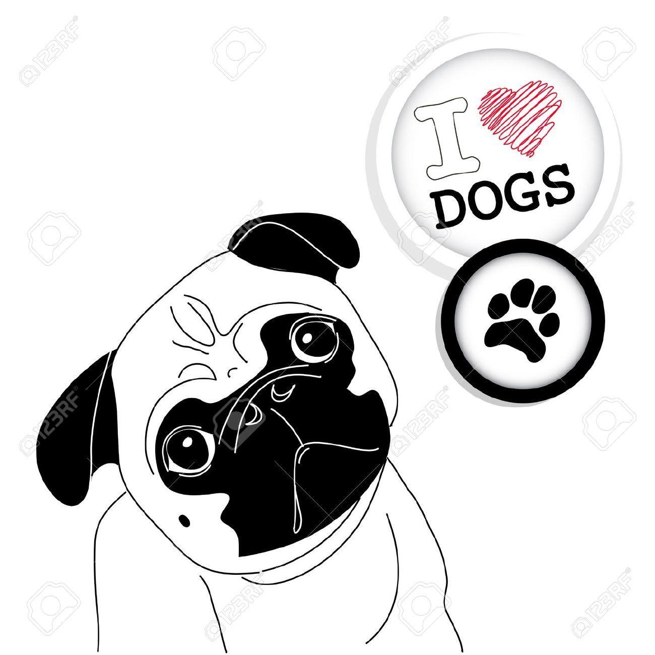 dibujos para pintar perros pugs en dibujos.net - Buscar con Google ...