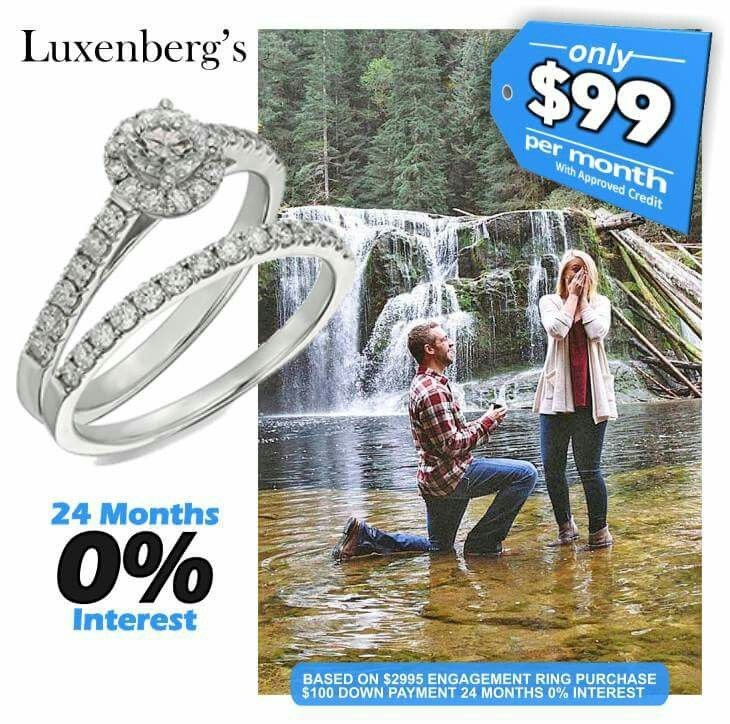 24 Months Interest Free That Gets You A 3000 Ring For 24 Monthly Interest Free Payments Of Only 99 With Appr With Images Engagement Rings Engagement Interesting Things