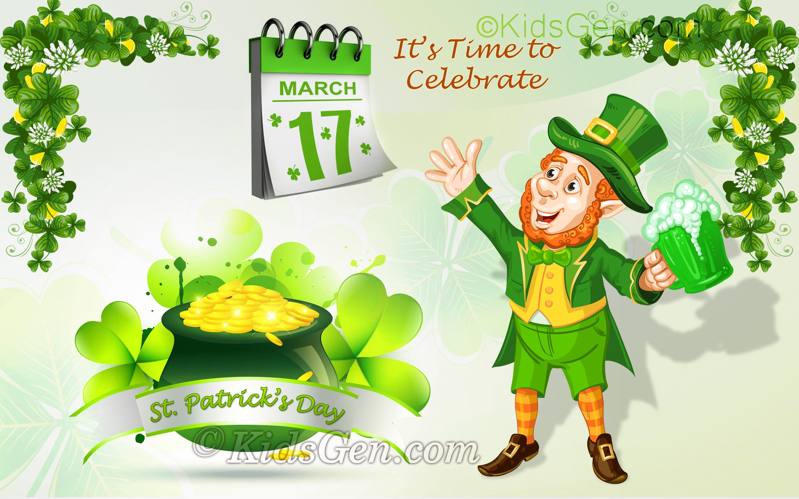 St patrick 39 s day wallpapers for widescreen desktop mobiles and in 2019 free desktop - Saint patricks day wallpaper free ...