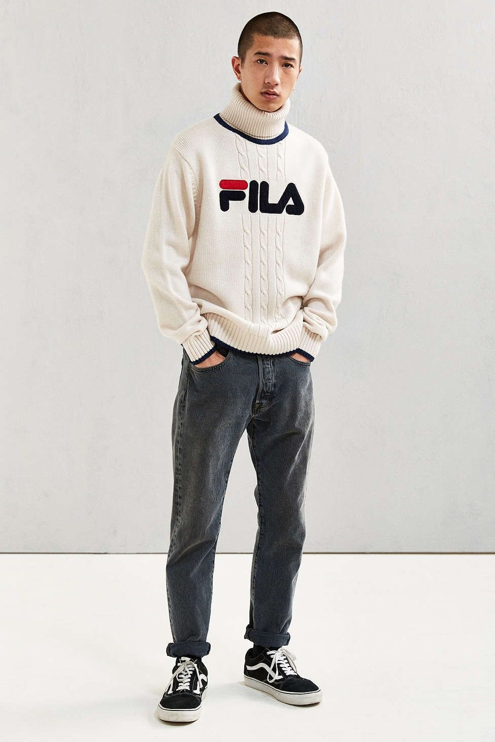 f7c02887e457 FILA Chunky Roll Neck Sweater - Urban Outfitters