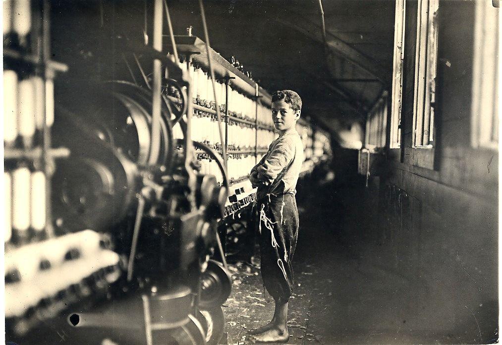 Worker in Cotton Mill, Rhode Island, 1909 Lewis hine