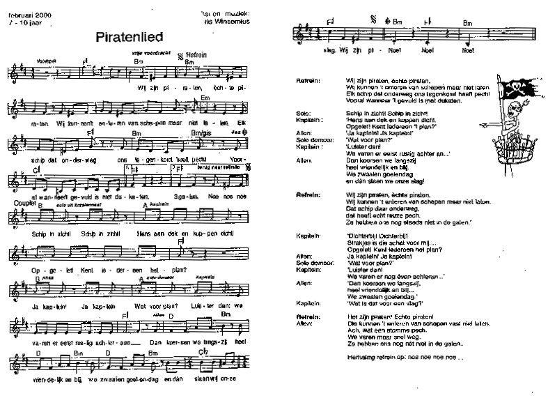 Piraten liedjes - Digibord Onderbouw