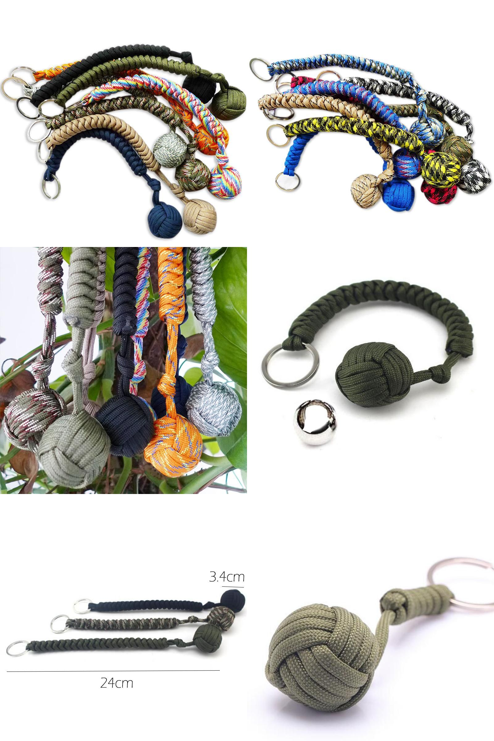 Outdoor Security Protection Steel Ball For Girl Self Defense Lanyard Key ChaiVX